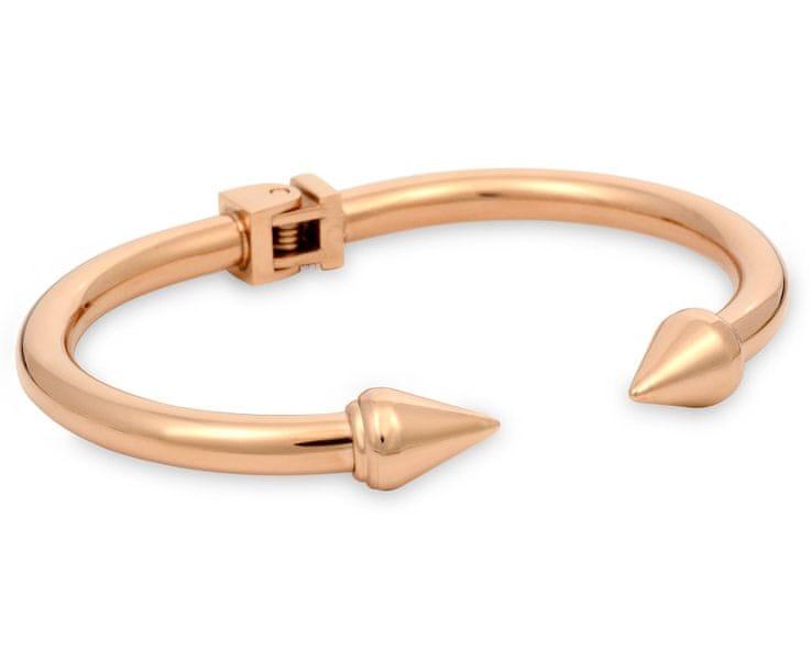 Troli Bronzový fashion náramek z oceli Rose Gold