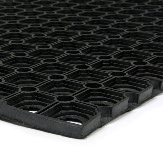 FLOMA Gumová vstupní čistící půlkruhová rohož Honeycomb - 75 x 45 x 1,6 cm