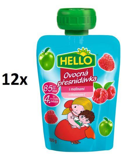 Hello Ovocná kapsička s malinami 12x100g