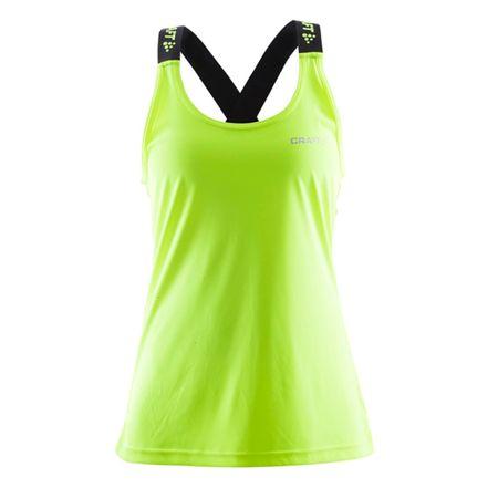 Craft ženski športni top Pure Elastic Tank W, M, zelen/črn