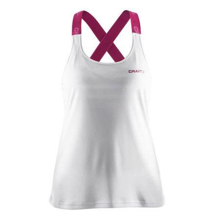 Craft ženski športni top Pure Elastic Tank W, M, bel/roza