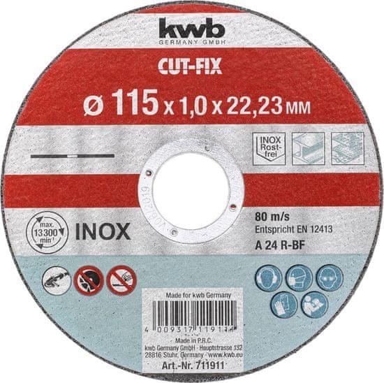 KWB rezalna plošča Cut-Fix 115x1,2 mm (711911)