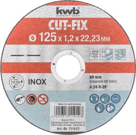 KWB rezalna plošča Cut-Fix 125x1,2 mm (711912)