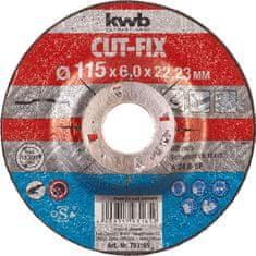 KWB brusna plošča Cut-Fix BF, 115x6 mm (793165)
