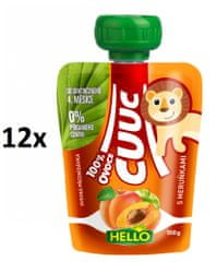 Hello Cuuc 100% ovocná kapsička s meruňkami 12x100g