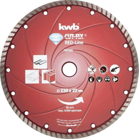 KWB diamantna rezalna plošča Cut-Fix 230x2,8 mm, Red-Line (797840)