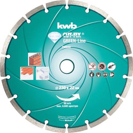 KWB diamantna rezalna plošča Cut-Fix 115x1,6 mm, Green-Line (798140)