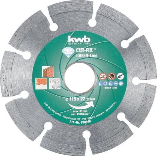 KWB diamantna rezalna plošča Cut-Fix 230x2,2 mm, Green-Line (798840)