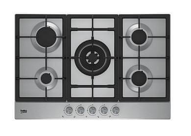 Beko plinska kuhalna plošča HIAW75225SX