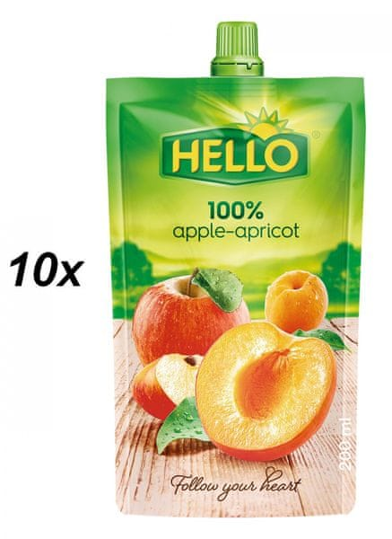 Hello 100% jablko-meruňka 10x200ml