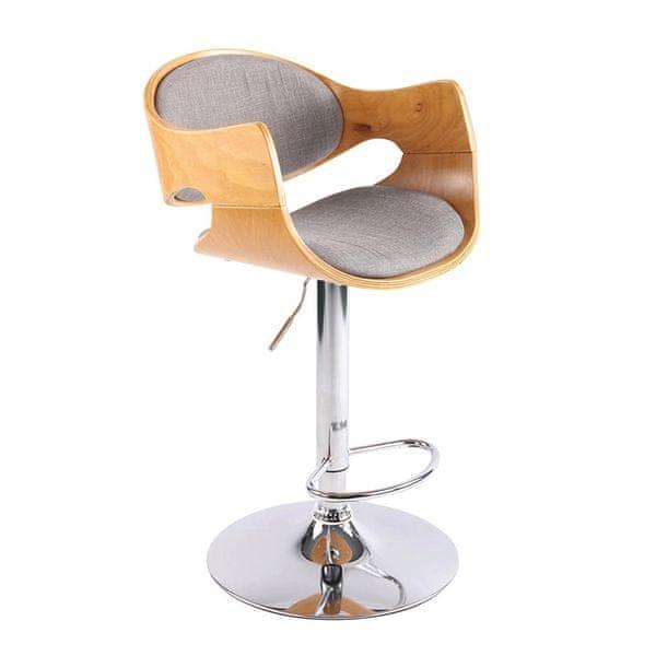 BHM Germany Barová židle Allia textil, šedá