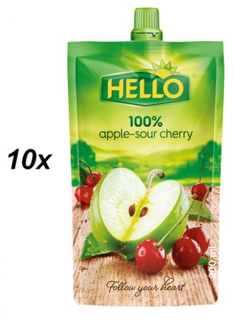 Hello 100% jablko-višeň 10x200ml