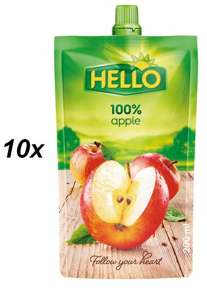 Hello 100% jablko 10x200ml