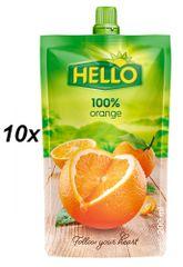 Hello 100% pomeranč 10x200ml