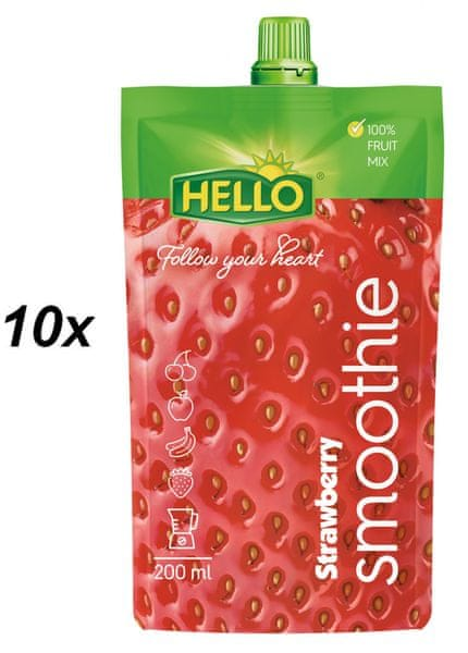 Hello Smoothie jahoda 10x200ml
