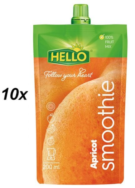 Hello Smoothie meruňka 10x200ml