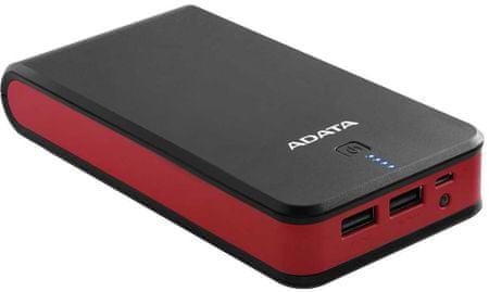 A-Data prenosna baterija P20100, 20100 mAh, črna-rdeča
