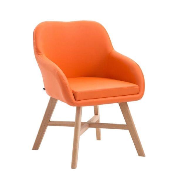 BHM Germany Jídelní / jednací židle Johan, oranžová