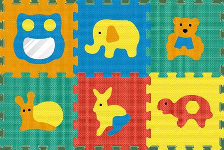 Lamps Pěnový koberec zrcadlo zvířata