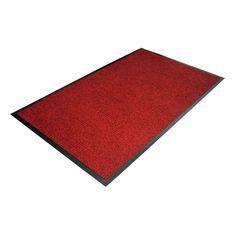 Červená textilní čistící vnitřní vstupní rohož - 180 x 120 x 0,7 cm