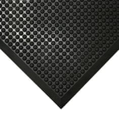 Černá gumová protiúnavová průmyslová rohož - 1,5 cm