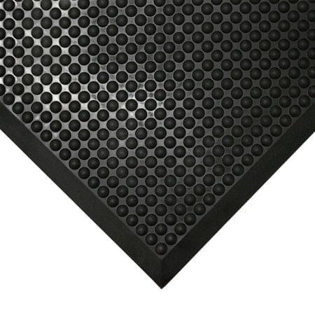 Černá gumová protiúnavová průmyslová rohož - 120 x 90 x 1,5 cm