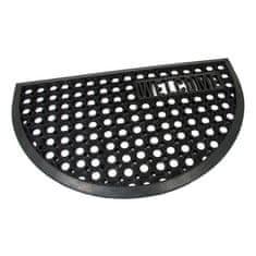 FLOMAT Gumová vstupní čistící půlkruhová rohož Honeycomb - Welcome - 75 x 45 x 1,5 cm