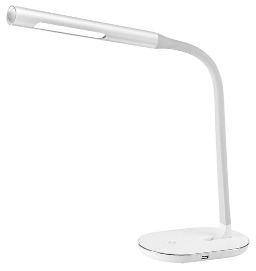 Solight LED stolní lampička stmívatelná, 8W, 4500K, USB bílá