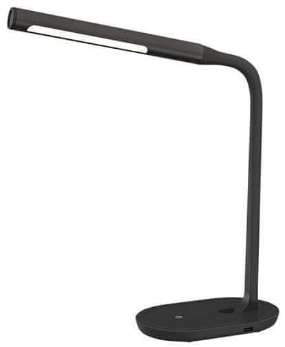 Solight LED stolní lampička stmívatelná, 8W, 4500K, USB černá