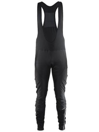Craft moške kolesarske hlače Velo Thermal Wind Bib Tights M, M, črne