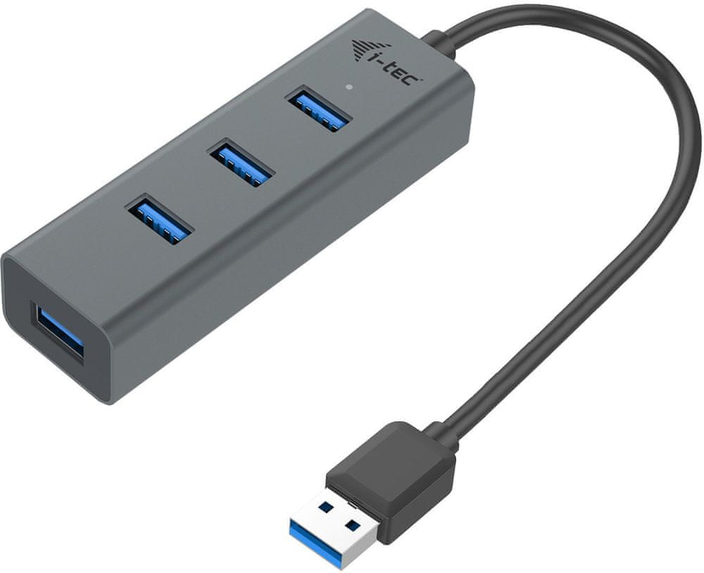 I-TEC USB 3.0 Metal pasivní 4 portový HUB U3HUBMETAL403