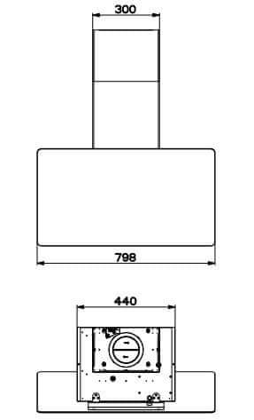 Faber kuhinjska napa Glam-Light EV8+ DG/LG A80