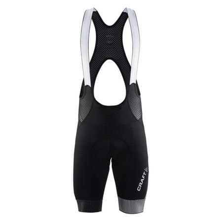 Craft moške kolesarske kratke hlače z naramnicami Verve Glow Bib Shorts M, črne, L