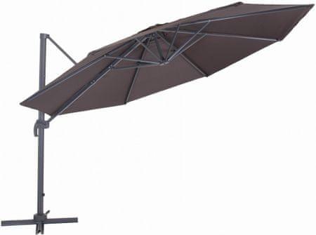 MAKERS Verona - bočný slnečník 3,5 m, hnedý