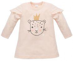 PINOKIO Dívčí tunika Sweet Panther - světle oranžová 74