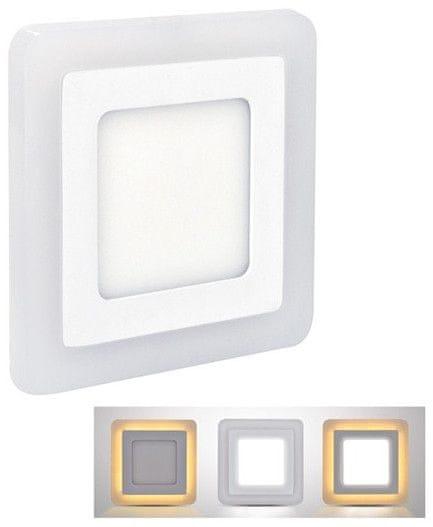 Solight LED podsvícený panel, podhledový, 18W+6W, čtvercový