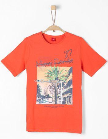 s.Oliver T-shirt chłopięcy S, czerwony