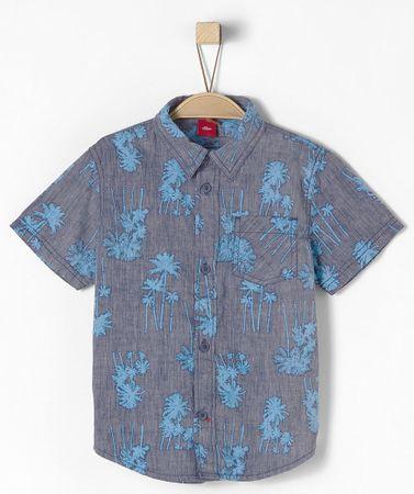 s.Oliver chlapčenská košeľa 104 - 110 modrá
