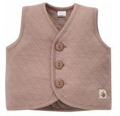 PINOKIO Dětská vesta Teddy Bear - hnědá