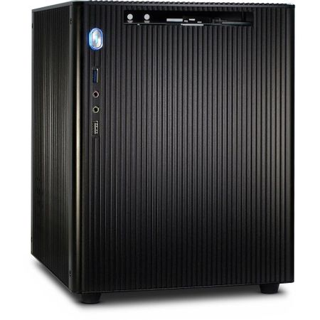 Inter-tech ohišje Mini-ITX E-M5, ITX, črno