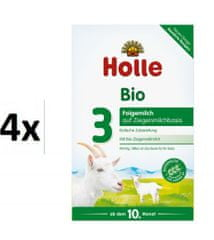 Holle Bio dětská mléčná výživa na bázi kozího mléka 3 - 4 x 400g