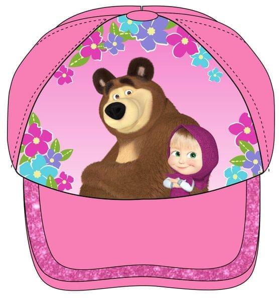 E plus M dívčí kšiltovka Máša a Medvěd 52 růžová