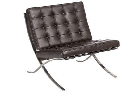Mørtens Furniture Luxusní křeslo Xtreme pravá kůže, tmavě hnědá