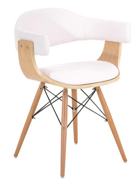 BHM Germany Jídelní / jednací židle dřevěná Dancer (SET 2 ks), bílá