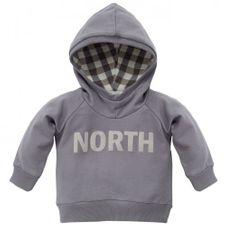 PINOKIO Chlapecká mikina North - šedá