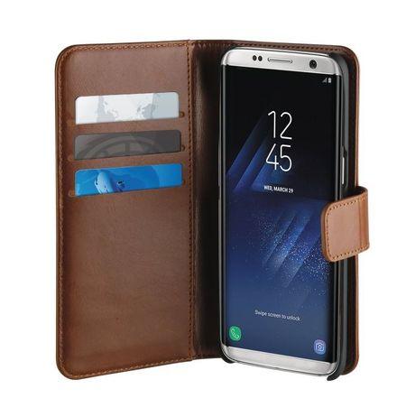 Puro preklopni ovitek Duetto za Samsung Galaxy S8, usnjen rjav