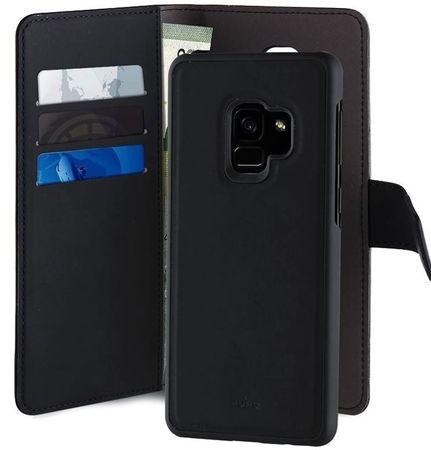 Puro preklopni ovitek Book C3 za Samsung Galaxy S9, črn