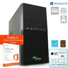 PCplus namizni računalnik Family G4400/4GB/1TB/W10H + 1 leto Office 365 Personal (136981)