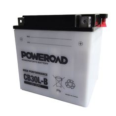 Uplus akumulator za motor Poweroad CB30L-B (12V, 30Ah, 168 x 132 x 176 mm)