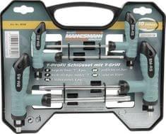 Mannesmann Werkzeug 8-delni komplet torx ključev s T-ročajem